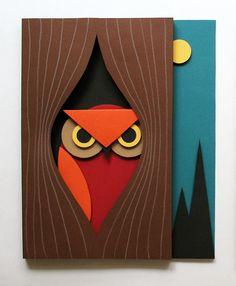 3D owl art, free tutorial  | by mmmcrafts