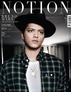 Bruno Mars Covers UK Notion Magazine | Singersroom
