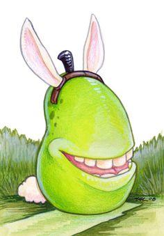 Biting Bunny Pear by ursulav on DeviantArt