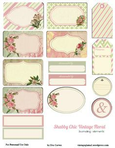 Free Vintage journal notes with a rose theme.and labels. - Free Vintage journal notes with a rose theme.and labels. Vintage Ephemera, Vintage Tags, Vintage Labels, Floral Printables, Printable Labels, Printable Paper, Free Printables, Labels Free, Printable Vintage