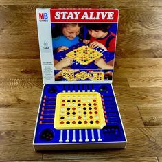 Stay Alive MB board Games Vintage Retro 1975 Complete in Superb Condition Game 7, Black Marble, Staying Alive, Board Games, Retro Vintage, The 100, Dark Blue, Conditioner, Role Playing Board Games