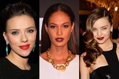 Red gets a sultry rap, sure. But Hepburn showed that there's something incredibly sophisticated about a correctly-styled scarlet lip—something that Scarlett Johansson, Joan Smalls, and Miranda Kerr understand as well. Get the look.   - ELLE.com