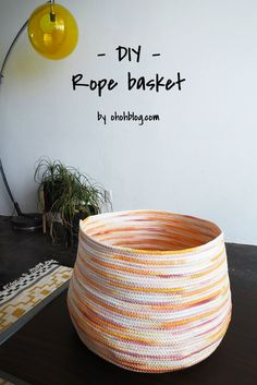 I knew that the stool cover  will not be my last rope project. It's kind of fun and addictive to make your own basket. I wanted a contain...