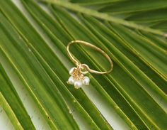 Pearl ring ANY SIZE RING tiny pearl earrings engagement