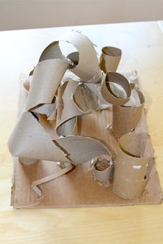 Holly's Arts and Crafts Corner: 2012: Project 6--Frank Stella-Inspired Cardboard Sculpture