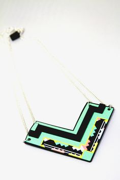 miss wax chevron necklace