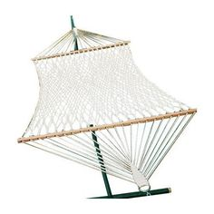 Found it at Wayfair - Chambers Island 2 Point Cotton Rope Hammock Rope Hammock, Hammock Chair, Hammock Stand, Outdoor Patio Furniture Sale, Outdoor Rooms, Outdoor Ideas, Outdoor Living, Outdoor Hanging Bed, Hammocks For Sale