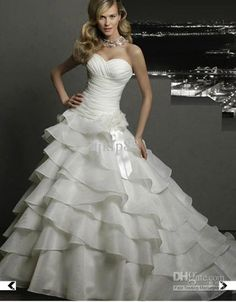 Wholesale Wedding Dresses - Buy High Quality 2013 NEW Sweetheart Strapless Luxurious Layers Organza Wedding Dresses Bridal Gown, $147.73 | DHgate