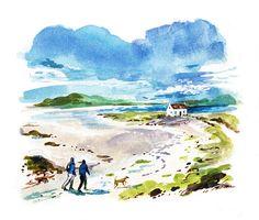 #DanWilliams #seaside #ocean #stroll #lifestyle #illustration #acrylic #watercolor #painting #lindgrensmith