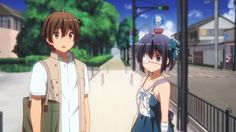 "This is from the anime ""Chuunibyou demo Koi ga Shitai!"" The couple in the picture is Yuuta Togashi and Rikka Takanashi."