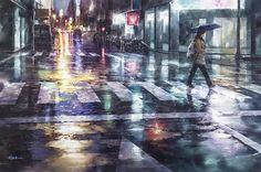 "Lin Jingzhe ""through endless busy"" 2014 watercolor 99 × 150cm | by Lin Jingzhe / Lin, Ching-Che"