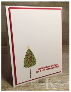 """Faithful INKspirations: Creation Station New Catalog Blog Hop is made with Stampin' Up's """"Totally Trees"""" and """"Cookie Cutter Christmas"""" stamp sets."""