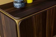 FRAME SIDEBOARD   Alain Gilles for Bonaldo - sideboard metal wood graphic art structure furniture living room furniture color copper brass design detail