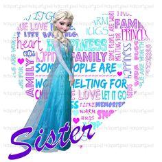 Frozen Iron On Tshirt shirt Transfer - Disney Inspired Printable - Olaf Elsa Anna - Sis Sister of the Birthday Girl by kidspartypixel on Etsy https://www.etsy.com/listing/202853056/frozen-iron-on-tshirt-shirt-transfer