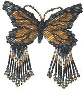 Monarch Butterfly M1 Pattern by Rita Sova at Bead-Patterns.co, monarch butterfli, m1 pattern, butterfli m1