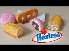 Hostess Sno Balls & Twinkies - Polymer Clay Tutorial - YouTube