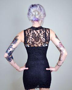 Great sleeve distribution #tattoo #hair #purple hair