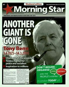 Morning Star front page London Today, Morning Star, Socialism, Einstein, Peace, Stars, Working Class, History, Twitter