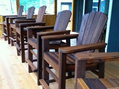 Bar Height Adirondack Chairs From Scrap Wood