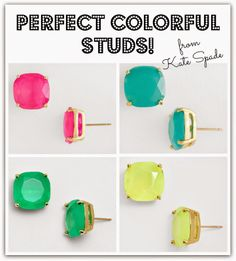 PERFECT summer studs from Kate Spade for only $38!!!!  WAIT!!! ON SALE NOW FOR $28.50!!!!!!!!
