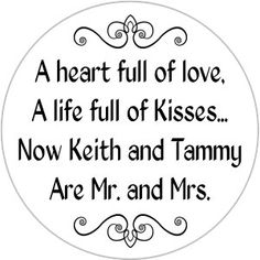 Mr and Mrs Kisses Stickers Personalized Wedding by WUYfavors, $15.00