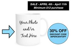 #flashsale #dicount #coupon #promo #onsale #sales #etsy #etsyseller #etsyshop #coffeemug #personalized #mothersday #gift #limitedtime