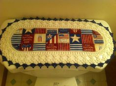 Aunt Roo's MINI Patriotic fabric runner w/ crocheted edging for toilet tank.