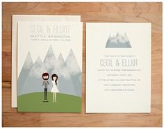 Whimsical Hand-Drawn Wedding Invitations
