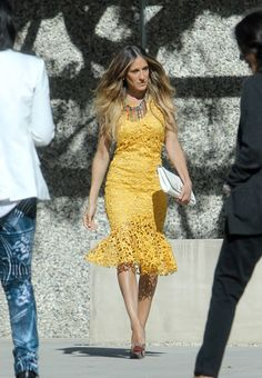 Sarah Jessica Parker Crochet Couture from Neiman Marcus