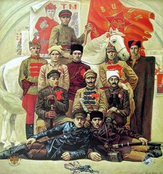 Red commanders. 1920. Painter Victor Psarev 1985.