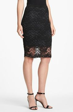 Eileen Fisher Lace Skirt available at #Nordstrom all around good skirt for going out