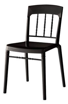 Svart Boxern plaststol. Polykarbonat, plast, stol, köksstol, kök, matsalsstol. http://sweef.se/stolar/93-boxern-stol-i-polykarbonat.html