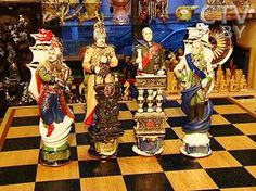 The world of chess by Grigory Pashkov, Art, battles, Balaklava, historical, military events, porcelain, army, Russian artist, chess figures, Sevastopol