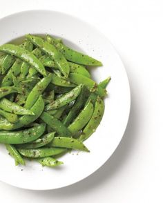 """See the """"Pesto Snap Peas"""" in our Pea Recipes gallery Pea Recipes, Side Dish Recipes, Vegetable Recipes, Healthy Recipes, Lettuce Recipes, Vegetarian Recipes, Healthy Foods, Side Dishes Easy, Vegetable Side Dishes"""
