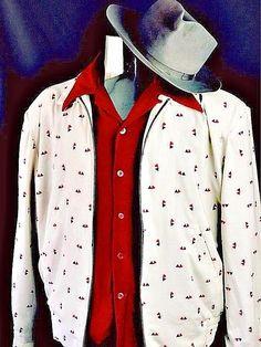Vintage 1950s Rockabilly VLV Atomic Geometric Print Swankys Ricky Jacket -Sm-2X #Swankys #Casual