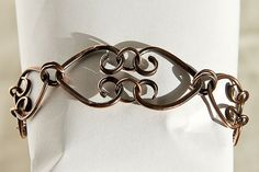 Copper Bracelet Hearts Chain by Spoon37 on Etsy