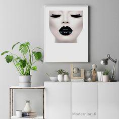 Black Lips Fashion Posters, Fashion Prints, Lips Photo, Woman Photography, Black Lips, Woman Face, Fashion Photo, Printables, Home Decor
