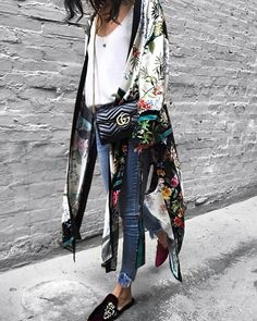 """1,485 Likes, 57 Comments - Jazy goh (@jazy_g) on Instagram: """"in love with this kimono @zara Jeans: @mysteryjaneclothing , slipper: old"""""""