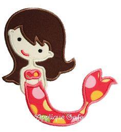 128 Mermaid Machine Embroidery Applique Design. $4.00, via Etsy.