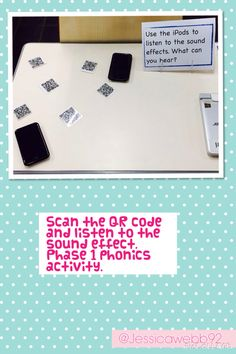 Scan the QR code and listen to the sound effect. Letter Sound Activities, Phonics Games, Alphabet Activities, Early Literacy, Literacy Activities, Phase 1 Phonics, Early Years Maths, Eyfs Classroom, Digital Literacy