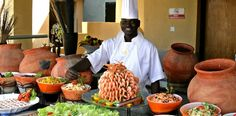 All-inclusive buffet at the Sheraton Gambia Hotel & Spa