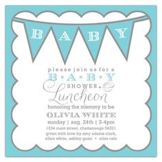 Memphis Any Color Baby Boy Shower Invitations