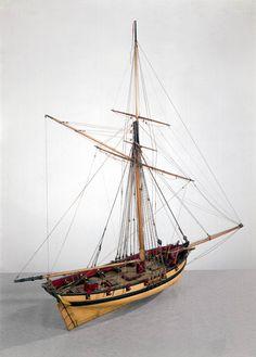 Naval cutter, c 1790.