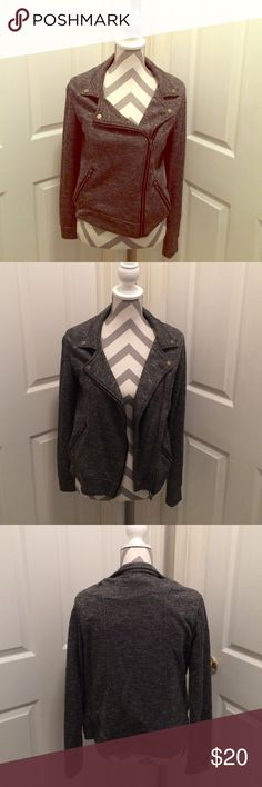 Must have Moto Jacket! ❤ This jacket is a must have in your closet! In excellent shape, only worn once. Super comfortable and goes with just about anything! 60% cotton 40% polyester. Offers welcome! Dex Jackets & Coats