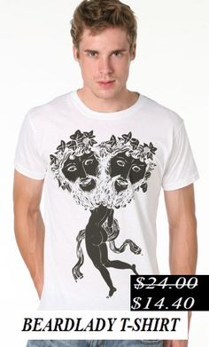 50% Discount. Beardlady t-shirt. Now it's only.... $14.40