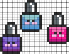 Nail Polish Perler Bead Pattern | Bead Sprites | Misc Fuse Bead Patterns