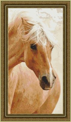 Beautiful Horse Counted Cross Stitch Pattern in PDF for Instant Download