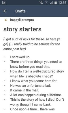 Here are some interesting story starters. Writing prompts, creative writing prom… Here are some interesting story starters. Writing prompts, creative writing prompts, prompts for adults, prompts for teens. It'd be tonight that is sneak out – Writing Prompts For Writers, Creative Writing Prompts, Book Writing Tips, Writing Words, Writing Help, Creative Writing Inspiration, Book Prompts, Dialogue Prompts, Fanfiction Prompts