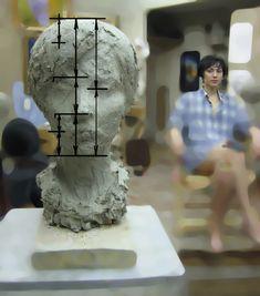 Human Sculpture, Sculpture Clay, Sculpture Techniques, Art Techniques, Wood Carving Faces, Face Design, Anatomy Reference, Portrait, Art Lessons