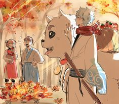 Kagura | Shinpachi | Saddaharu | Gintoki | Yorozuya | Gintama | 銀魂